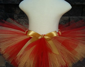 Red and Gold Christmas 49ers Tutu