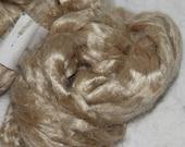 Silk Brick 4 oz natural champaigne spinning fiber
