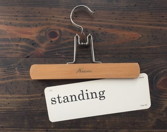 vintage flash card • standing / stand | Dick and Jane | Alice and Jerry flashcard
