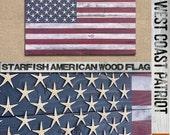 Starfish American Flag Wooden Wall Art