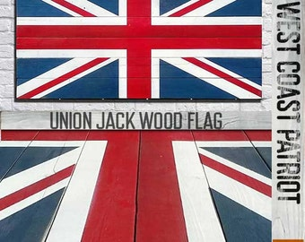 Union Jack Vintage / Distressed Style Wood Wall Art