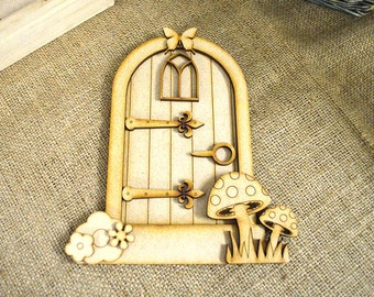 3D Fairy Door Kit - 11 Piece Laser Cut & Engraved From MDF
