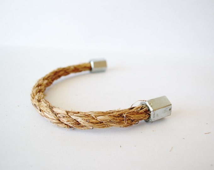 Rope Drawer Handle, Cabinet Pull: Steel Nut Hexagonal End, SKU11011
