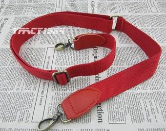 Red Adjustable Webbing Bag Strap