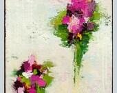 "acrylic flower art,landscape painting, beautiful texture,colorful art, handmade paintings by M.Schöneberg ""Colorful bouquet""20x16x0,75"