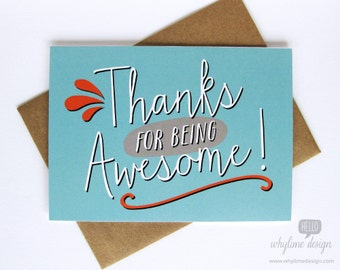 Thanks for Being Awesome Card
