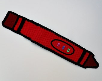 Crochet / Red Crayon Scarf