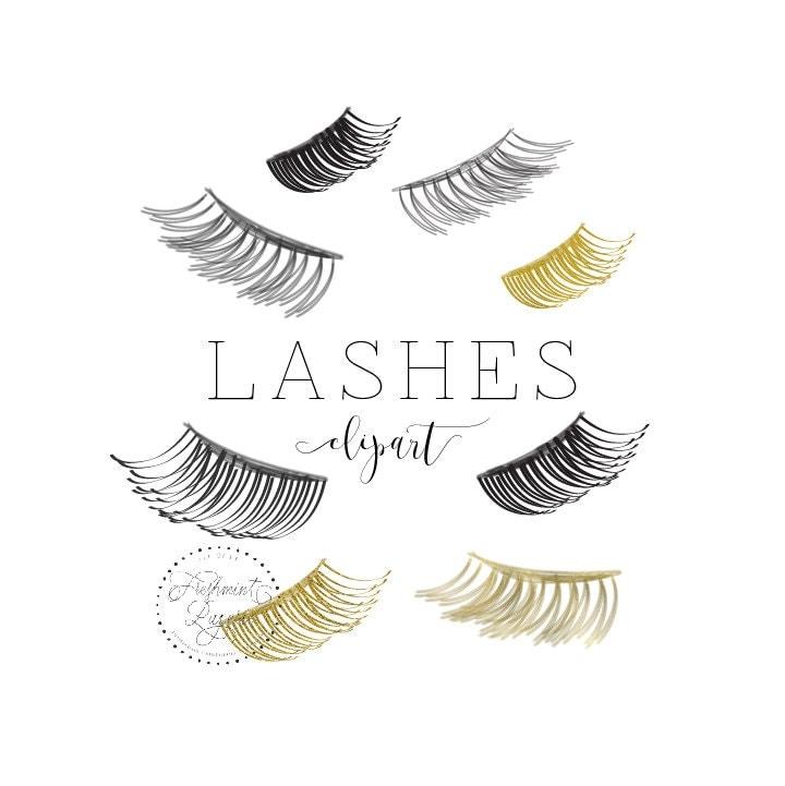 watercolor lashes clipart lash clipart eyelash clipart