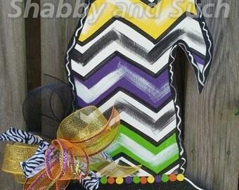 Witch Hat Door Hanger, Fall Door Hanger, Halloween Door Hanger, Fall Door Decor, Halloween Sign, Fall Wreath