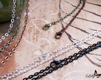 Rolo Chain Necklaces - 10- 24 inch(60cm) 3x4mm Links Rolo necklaces