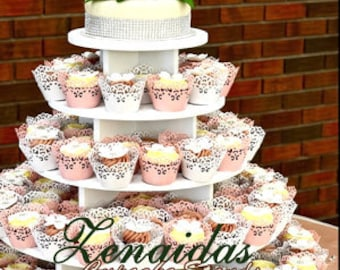 Cupcake Stand 5 Tier 100 Cupcakes Threaded Rod and