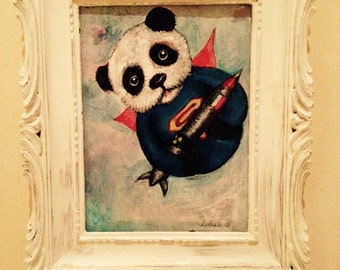 Superbear Original painting framed