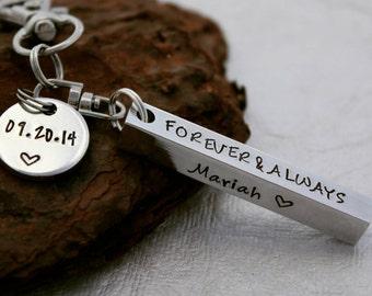 Personalized Keychain Bar - Personalized Keychain - Grandma Gift - Anniversary Gift - Men's Keychain - Gifts for Him - Best Friends Gift