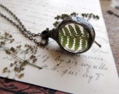 woodland necklace, fern necklace, terrarium necklace, terrarium necklaces, mariaela, boho, gypsy, wedding, bridesmaids necklaces, suncather