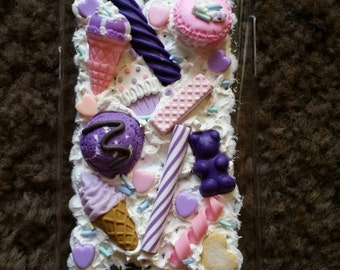purple sweet whipped cream cookie candy Samsung galaxy note 2 case