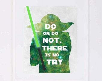 Star Wars, Yoda Quote Digital Printable