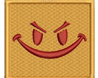 square angry smile  - Machine Embroidery designs,