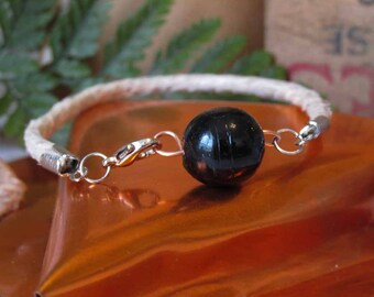Glass Bead Hemp Bracelet