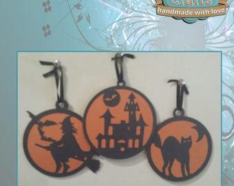 Halloqween Ornaments - Set of 3