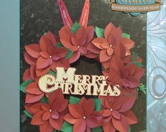 Poinsetta Christmas Wreath