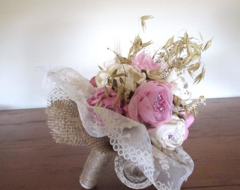 Wedding Bouquet , Rustic Wedding Bouquet , Peonies Wedding Bouquet