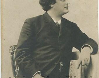 Russian opera singer Ioakim Tartakov antique photo postcard