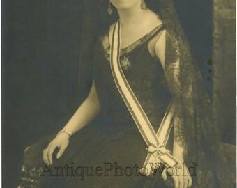 Writer Maria Antonia Field w order antique photo