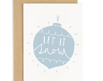 Let It Snow Christmas Card - Holiday Card - CC87