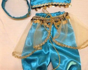 Disney BABY Jasmine Outfit Custom made to fit your baby size 6 month to 2T toddler