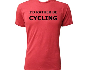I'd Rather Be Cycling - NLA Vintage Red