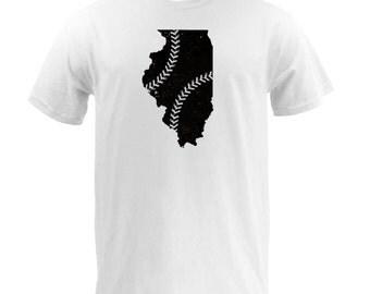 Illinois Baseball (Black/Grey) - White