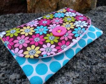 Floral  Business Card Holder, Small Polka Dot Wallet