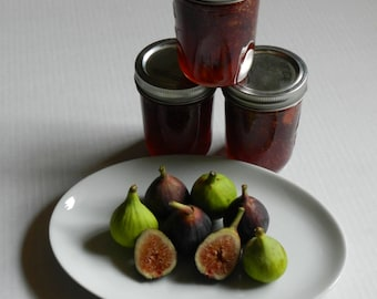 Fig Jam, Fresh, Sweet, Dark and Delicious.  Hand crafted Small Batch Jam, Falls City, Oregon, Pacific Northwest Naturally Grown