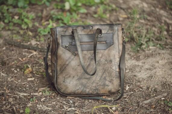 Distressed finishing Man Tote bag, Man Shoulder Bag, Unisex Tote Bag, Unisex Cross body Ba