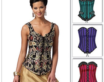 Butteick 5662,  Misses Corsets Sewing Pattern, New uncut sewing pattern for corsets, size 6-8-10-12-14