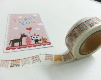Lovely Flag Washi / Masking Tape - 10M