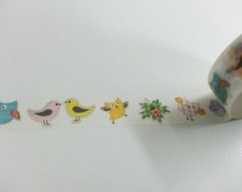 Lovely Owl  Washi / Masking Tape - 10M