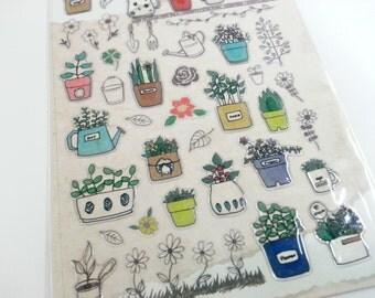 3D Plants Sticker  - 1 Sheet