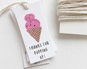 Ice Cream Party Decor. Favor Tag. Ice Cream Party Favors. Kids Party Favor Tag. Custom Birthday Favor Tag. Ice Cream Social Party