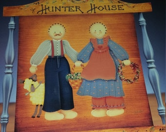 "Vintage 1987 ""Darcie's Country Folk"" Craft Book by Darcie Hunter"