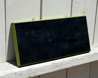 Shabby green chalk board