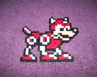 Megaman 8-bit Rush perler sprite