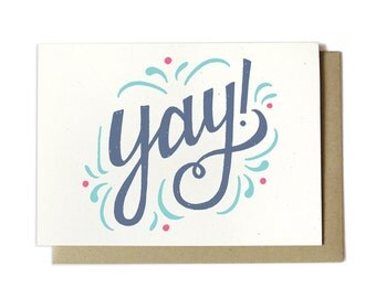 Yay! Congratulations Greeting Card - Congrats Card - Celebration Card