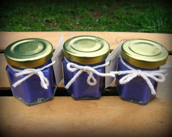 1 Lavender Mini Soy Candle Personalized Candle - Wedding Favor Candle - Lavender Favors - Personalized Favors