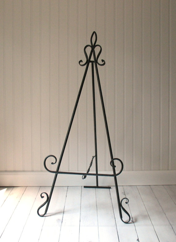 42 Easel Floor Or Large Tabletop Black Metal Home