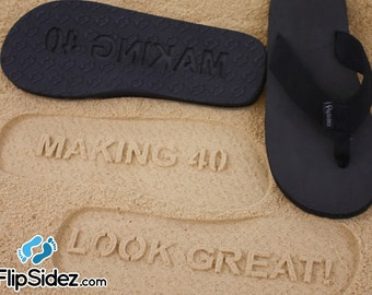 Custom Birthday Flip Flops Design Your Own Sand Imprint