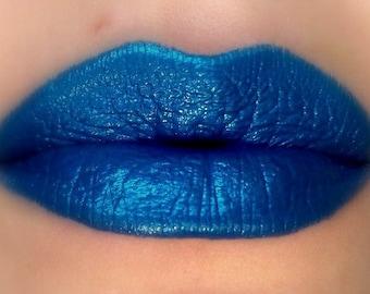 Risqué - Blue Lipstick - Natural Gluten Free Fresh Handmade