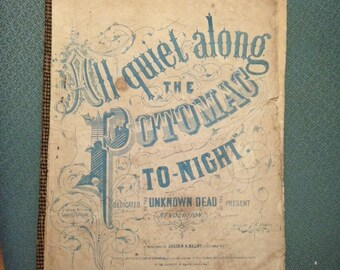 Original Confederate Sheet Music From the 1860's.