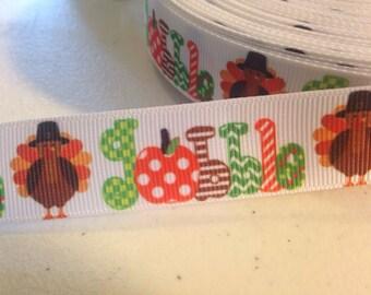 Thanksgiving Grosgrain Ribbon 1 yard