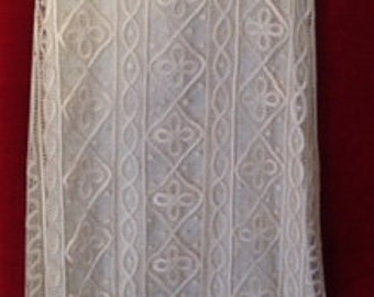 Vintage Ivory Silk Lace Sheath Dress 6-8